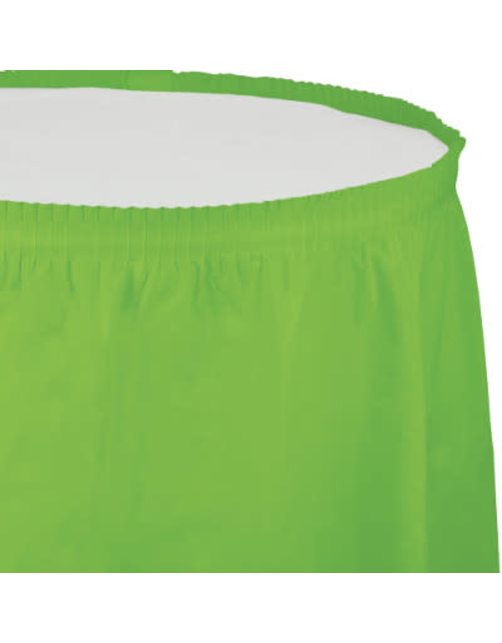 Touch of Color FRESH LIME GREEN PLASTIC TABLESKIRT