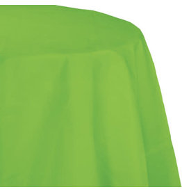 Touch of Color FRESH LIME GREEN OCTY ROUND PAPER TABLECLOTH
