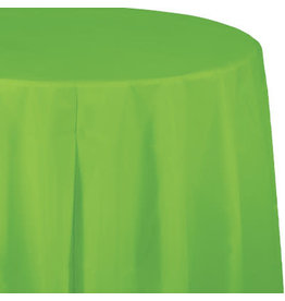 Touch of Color FRESH LIME GREEN ROUND PLASTIC TABLECLOTH