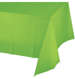 Touch of Color FRESH LIME GREEN PLASTIC TABLECLOTH