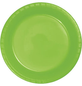 """Touch of Color Fresh Lime Green 7"""" Plastic Plates - 20ct."""