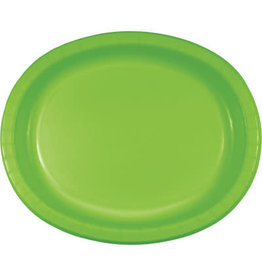 Touch of Color Fresh Lime Green Oval Paper Plates - 8ct.