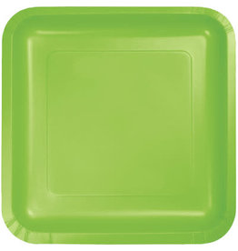 Touch of Color FRESH LIME GREEN SQUARE DESSERT PLATES