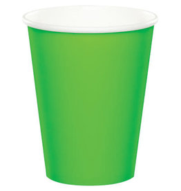 Touch of Color FRESH LIME GREEN CUPS 9OZ