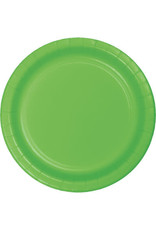 """Touch of Color 10"""" Fresh Lime Paper Banquet Plates - 24ct."""