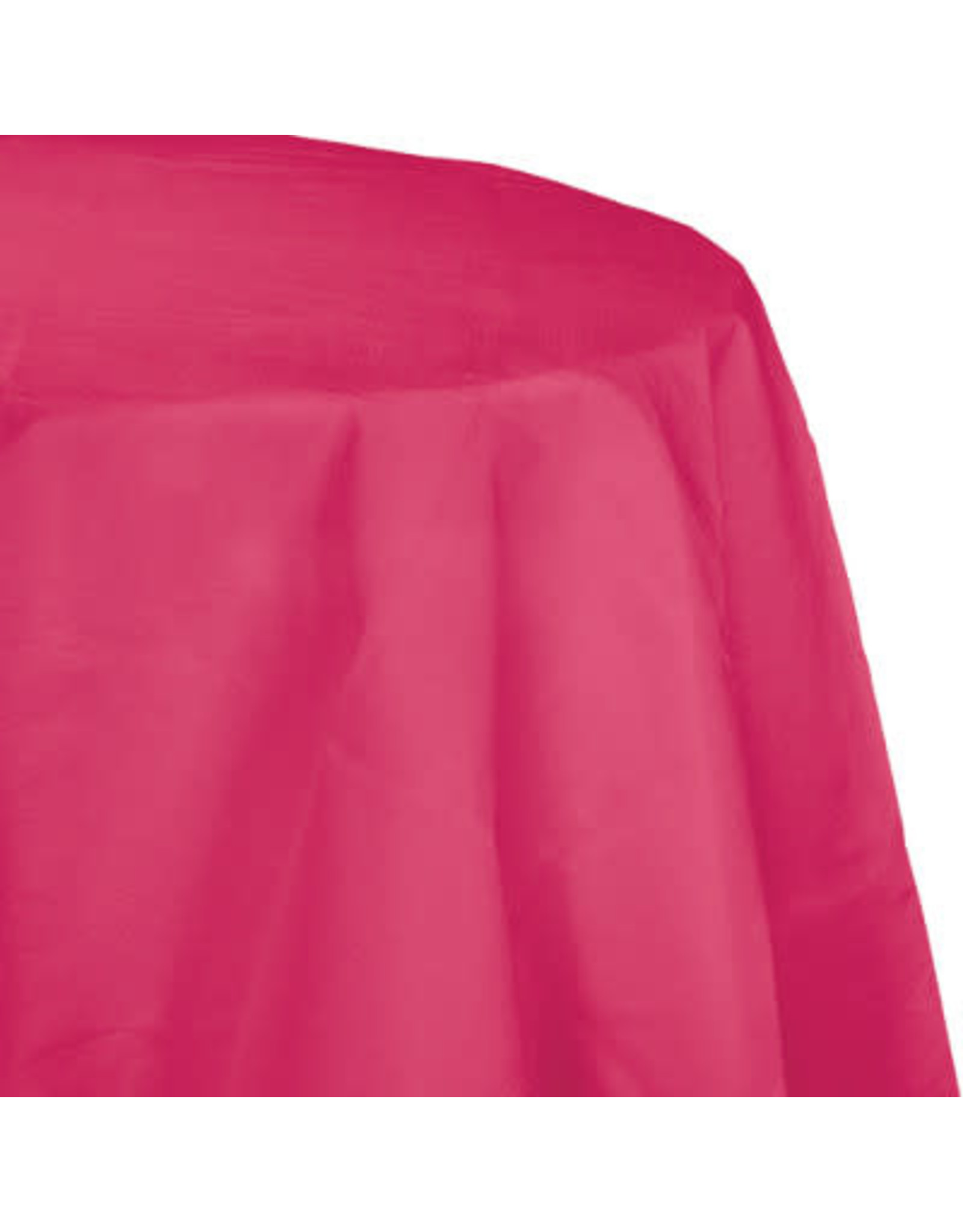 Touch of Color HOT MAGENTA PINK OCTY ROUND PAPER TABLECLOTH