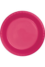 Touch of Color HOT MAGENTA PINK PLASTIC DESSERT PLATES
