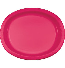Touch of Color Hot Magenta Pink Oval Paper Plates - 8ct.