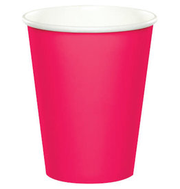 Touch of Color HOT MAGENTA PINK CUPS 9OZ