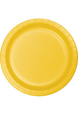 """Touch of Color 10"""" School Bus Yellow Paper Banquet Plate"""