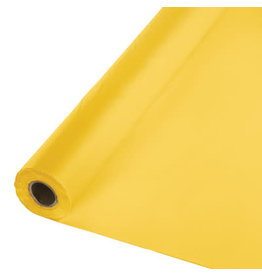 Touch of Color SCHOOL BUS YELLOW PLASTIC BANQUET ROLL