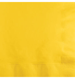 Touch of Color SCHOOL BUS YELLOW BEVERAGE NAPKINS