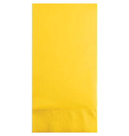 Touch of Color SCHOOL BUS YELLOW GUEST TOWELS