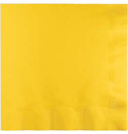 Touch of Color SCHOOL BUS YELLOW LUNCH NAPKINS