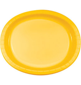 Touch of Color School Bus Yellow Oval Paper Plates - 8ct.