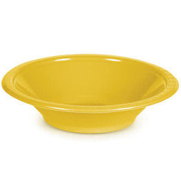 Touch of Color SCHOOL BUS YELLOW 12 OZ PLASTIC BOWLS