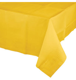 Touch of Color SCHOOL BUS YELLOW PAPER TABLECLOTH