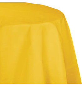 Touch of Color SCHOOL BUS YELLOW OCTY ROUND PAPER TABLECLOTH