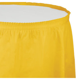 Touch of Color SCHOOL BUS YELLOW PLASTIC TABLESKIRT
