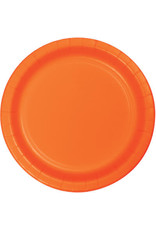 """Touch of Color 10"""" Sunkissed Orange Paper Banquet Plates - 24ct."""