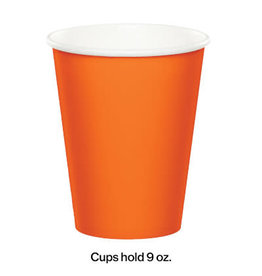 Touch of Color SUNKISSED ORANGE CUPS 9OZ