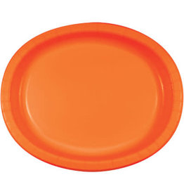 """Touch of Color Orange 10"""" x 12"""" Oval Platters - 8ct."""