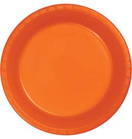 Touch of Color SUNKISSED ORANGE PLASTIC DESSERT PLATES