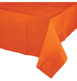 Touch of Color SUNKISSED ORANGE PAPER TABLECLOTH