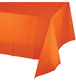 Touch of Color SUNKISSED ORANGE PLASTIC TABLECLOTH