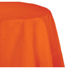 Touch of Color SUNKISSED ORANGE OCTY ROUND PAPER TABLECLOTH