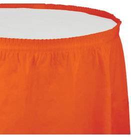 Touch of Color SUNKISSED ORANGE PLASTIC TABLESKIRT