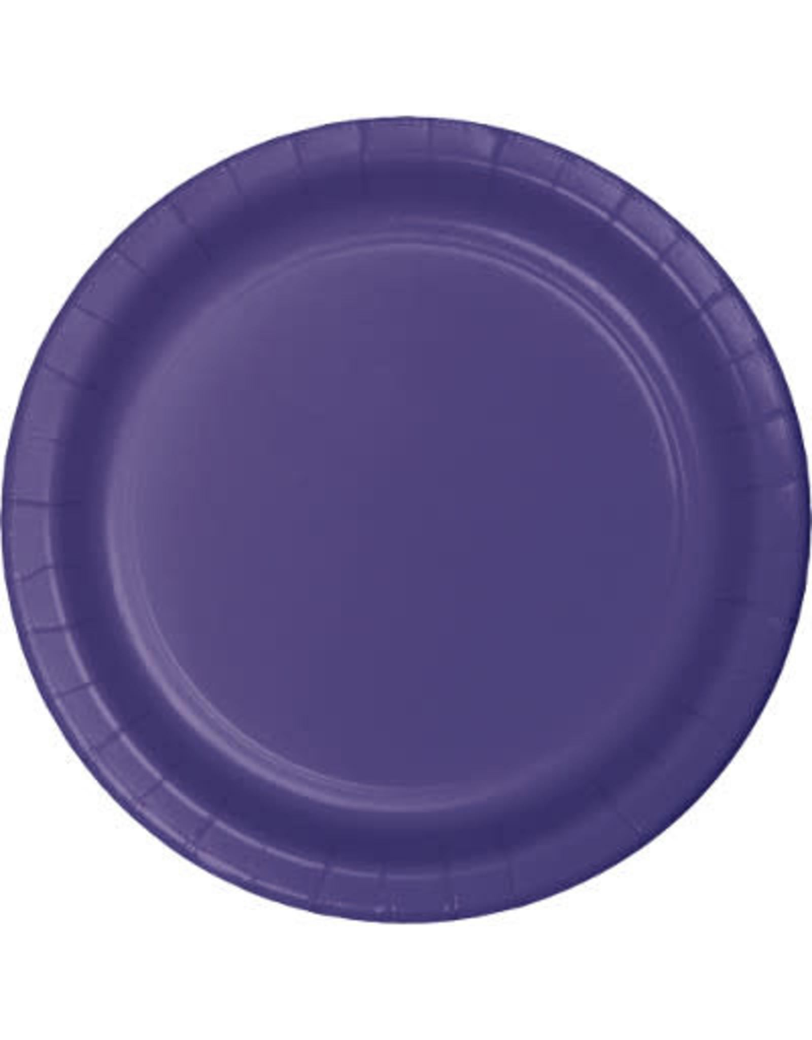 "Touch of Color 10"" Purple Paper Banquet Plates - 24ct."