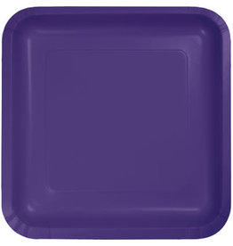Touch of Color PURPLE SQUARE DESSERT PLATES