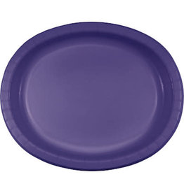 Touch of Color Purple Oval Paper Plates - 8ct.