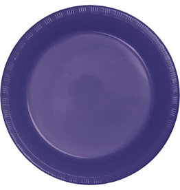 """Touch of Color Purple 7"""" Plastic Plates - 20ct."""