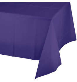 Touch of Color PURPLE PLASTIC TABLECLOTH