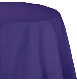 Touch of Color PURPLE OCTY ROUND PAPER TABLECLOTH
