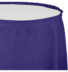 Touch of Color PURPLE PLASTIC TABLESKIRT
