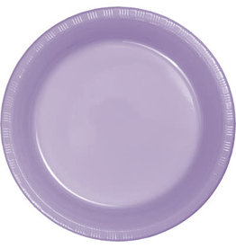 Touch of Color LUSCIOUS LAVENDER PURPLE PLASTIC DESSERT PLATES