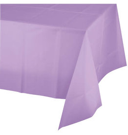 Touch of Color LUSCIOUS LAVENDER PURPLE PLASTIC TABLECLOTH