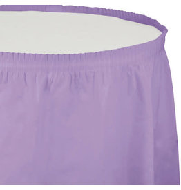 Touch of Color Luscious Lavender Tableskirt - 14ft.