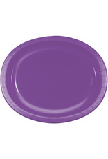 Touch of Color AMETHYST PURPLE OVAL PLATES