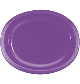 Touch of Color Amethyst Purple Oval Paper Plates - 8ct.