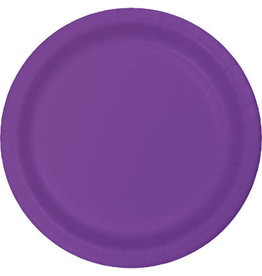 """Touch of Color Amethyst Purple 7"""" Plastic Plates - 20ct."""
