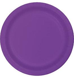 Touch of Color AMETHYST PURPLE PLASTIC DESSERT PLATES