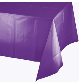 Touch of Color AMETHYST PURPLE PLASTIC TABLECLOTH