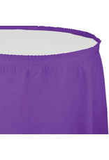 Touch of Color AMETHYST PURPLE PLASTIC TABLESKIRT