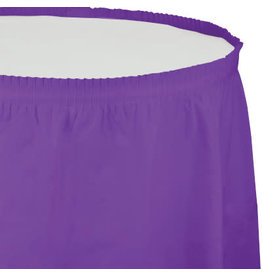 Touch of Color Amethyst Purple Tableskirt - 14ft.
