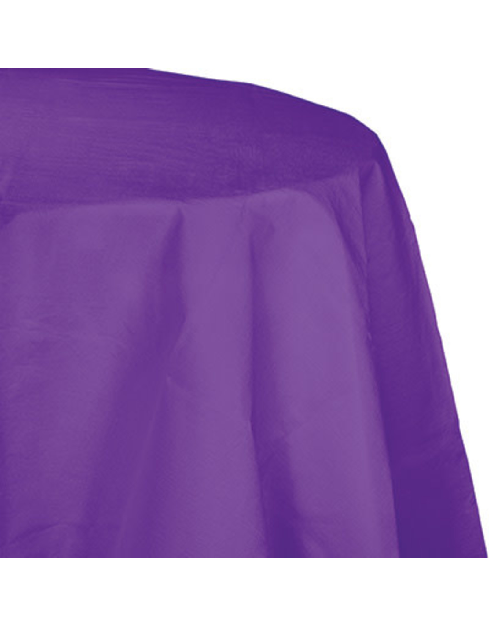 Touch of Color AMETHYST ROUND PAPER TABLECLOTH