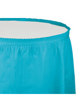 Touch of Color BERMUDA BLUE PLASTIC TABLESKIRT
